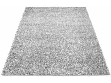 Carpet City Teppich »Moda Soft 2081«, rechteckig, Höhe 11 mm, pastell Farben, Kurzflor, grau, grau