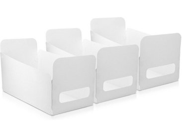 Navaris Aufbewahrungsbox, Aufbewahrungskiste 3er Set - Box Organizer zur Aufbewahrung aus Kunststoff - Kiste Behälter für Badezimmer oder Küche