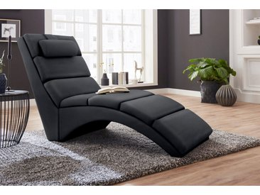 ATLANTIC home collection Relaxliege, schwarz, schwarz