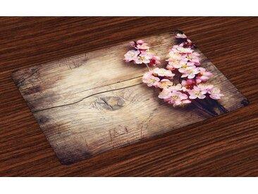 Abakuhaus Tischdecke, »Waschbare Stoff Esszimmer Küche Tischdekorations Digitaldruck«, (4-teilig, 4 Teilig-St., Set aus 4x)