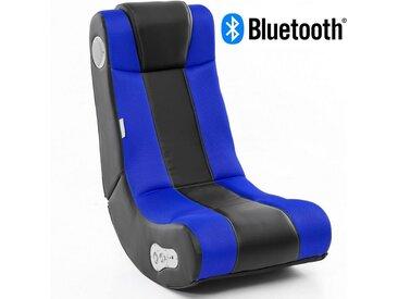 Wohnling Gaming Chair »WL8.007BT« Soundchair InGamer in Schwarz Blau mit Bluetooth Musiksessel mit eingebauten Lautsprechern Multimediasessel für Gamer 2.1 Soundsystem - Subwoofer Music Gaming Sessel Rocker Chair