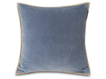 Lexington Dekokissen »Velvet Cotton Pillow Cover With Edge«, blau, blau