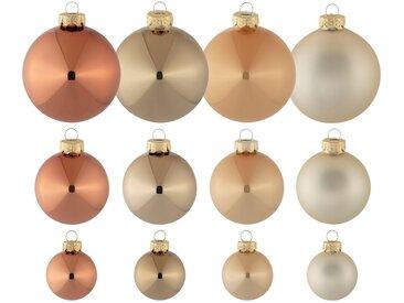 Thüringer Glasdesign Weihnachtsbaumkugel »Cappuccino« (40 Stück)