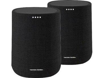 Harman/Kardon Citation One 2-er Set Lautsprecher (Bluetooth, WLAN (WiFi), 40 W), schwarz, schwarz