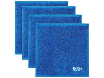 Hugo Boss Home Waschlappen »PLAIN 4-tlg.« (4-tlg), blau, royal