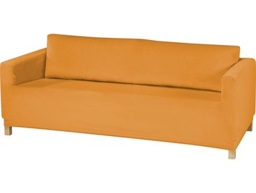 Dohle&Menk Sofahusse »Susi«, samtige Microfaserware, goldfarben, 3-Sitzer, goldfarben