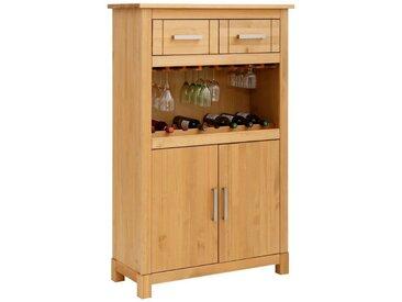 Home affaire Highboard »Elta«, mit Aufbewahrungsmöglichkeit für Flaschen und Gläser, natur, natur