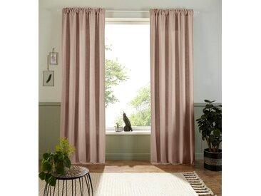 Home affaire Vorhang »Esra«, Multifunktionsband (1 Stück), Bio-Baumwolle, natur, beige