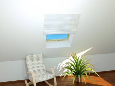 hecht international HECHT Insektenschutz-Dachfenster-Rollo »BASIC«, weiß/weiß, BxH: 110x160 cm, weiß, Dachfenster, 110 cm x 160 cm, weiß