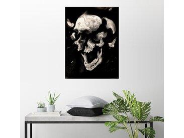 Posterlounge Wandbild, Totenkopf Studie, Premium-Poster