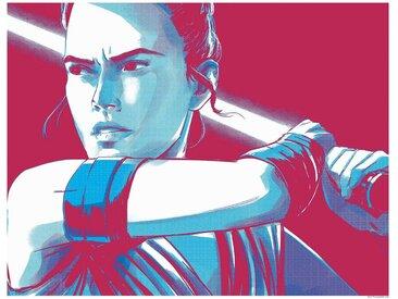 Komar KOMAR Wanddekoration »Star Wars Faces Rey«, ohne Rahmen, bunt, 50 cm, bunt
