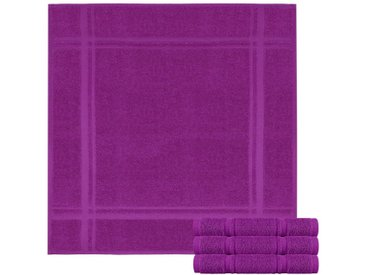 Lashuma Handtuch Set »Pure« (Spar-Set, 4-tlg), Frottee Küchentücher, Abwaschtücher aus 100% Baumwolle, lila, lila