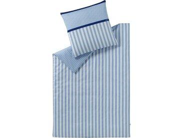 Esprit Wendebettwäsche »Bigstripe«, mit Logoaufdruck, blau, 1 St. x 200 cm x 200 cm, 3 tlg., blau