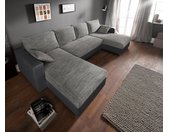 sit&more Wohnlandschaft, inklusive Bettfunktion und Bettkasten, schwarz, schwarz-grau - grau
