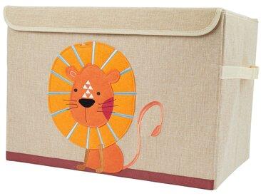 BIECO Spielzeugtruhe »Bieco Aufbewahrungsbox mit Deckel Löwen Motiv 65L faltbar ca. 36x36x51cm Spielzeugkiste mit Deckel Aufbewahrungsbox Kinder Kisten mit Deckel Aufbewahrungsbox Groß Wickeltisch Organizer«