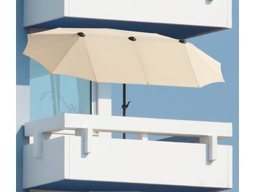Schneider Schirme Balkonschirm »Salerno«, LxB: 300x150 cm, mit Schutzhülle, ohne Schirmständer, braun, natur