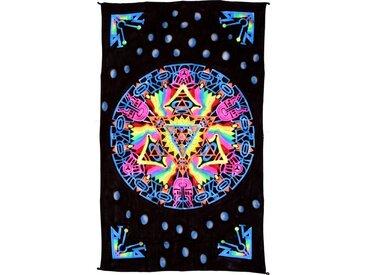 Guru-Shop Wandteppich »Goa Wandtuch, UV Schwarzlicht Wandbehang,..«, Höhe 200 mm, Mandala