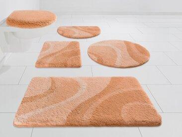 Kleine Wolke EXKLUSIV Badematte »Mae« , Höhe 25 mm, rutschhemmend beschichtet, strapazierfähig, rosa, lachs