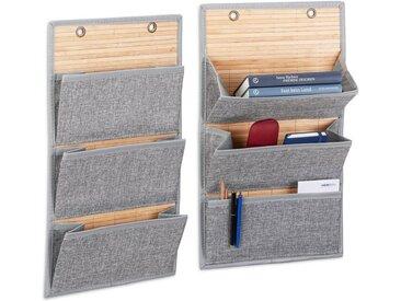 relaxdays Organizer »2 x Wandorganizer Bambus 3 Fächer«