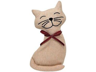 Lashuma Türstopper »Katze«, Türpuffer Bodenstopper schwer gefüllt, goldfarben, Beige