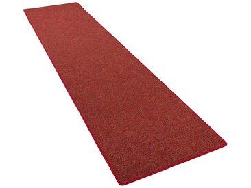 Snapstyle Veloursteppich »Läufer Teppich Schlingen Teppich Alma Meliert«, Rechteckig, Höhe 8 mm, rot, Rot
