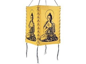 Guru-Shop Deckenleuchten »Lokta Papier Hänge Lampenschirm, Deckenleuchte..«, Buddha 1 gelb