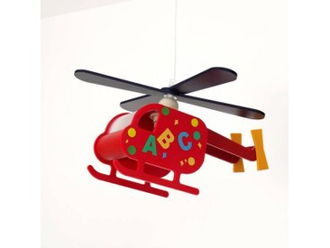 Licht-Erlebnisse Pendelleuchte »KINDER Kinderleuchte Helikopter Bunt Rot Jungen und Mädchen Lampe«