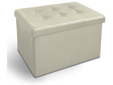 casa pura Sitzwürfel »Belmondo«, Faltbar, weiß, Sitzbank, weiß