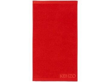 KENZO MAISON Handtuch »ICONIC« (1-St), Logo-Stickerei, rot, rouge