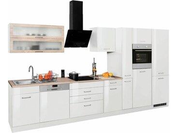 HELD MÖBEL Küchenzeile »Utah«, ohne E-Geräte, Breite 390 cm, weiß, Weiß Hochglanz
