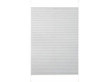 K-HOME Plissee »Klemmfix Pisa«, Lichtschutz, ohne Bohren, verspannt, Crushed-Optik, grau, grau