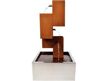 Köhko Zimmerbrunnen »KÖHKO® Wasserspiel Brunnen mit LED-Beleuchtung Höhe 65 cm aus Cortenstahl mit Edelstahl-Becken Wasserfall Wasserspiel 32005«