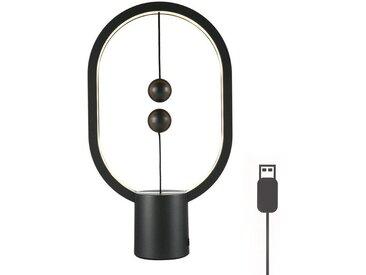 TOPMELON LED Leselampe, USB-Stromversorgung, LED Leselampe, Nachtlicht, Magnetschwebewaage Licht, schwarz, Schwarz(Klein)