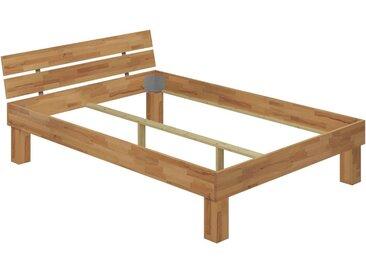 ERST-HOLZ Massivholzbett »Doppelbett für XXL-Gewicht Buche 140x200 hohes Massivholzbett Seniorenbett 60.81-14oR«