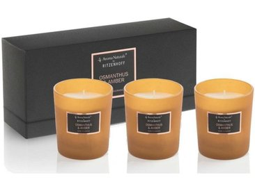 Aroma Naturals by Ritzenhoff Duftkerze »Aroma Naturals Selection 3er Set Osmanthus & Amber«