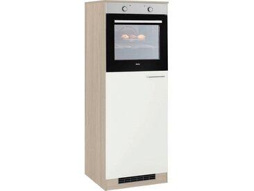 wiho Küchen Kühlumbauschrank »Zell«, weiß, weiß/satin eichefarben