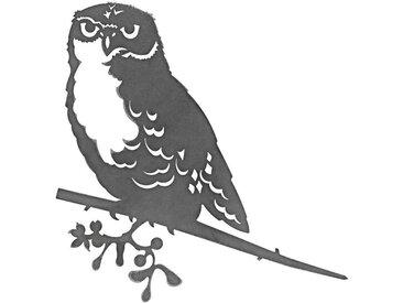 Dehner Dekoobjekt »Baumstecker Glücksvogel Eule, 28.3 x 21 cm, Stahl«