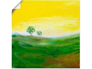 Artland Wandbild »Sonniger Tag«, Wiesen & Bäume (1 Stück), Poster