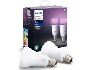 Philips Hue »White and Color Ambiance Doppelpack 2x806lm« LED-Leuchtmittel, E27, 2 Stück, Warmweiß, Tageslichtweiß, Neutralweiß, Extra-Warmweiß