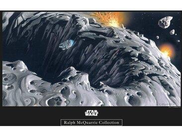 Komar KOMAR Wanddekoration »Star Wars Classic RMQ Asteroid«, ohne Rahmen, bunt, 40 cm, bunt