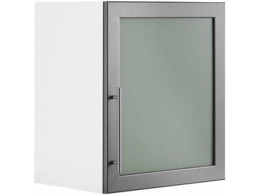 wiho Küchen Glashängeschrank »Aachen«, Breite 50 cm, natur, Korpus weiß