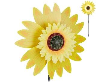 relaxdays Windrad »Windrad Blume für Garten«