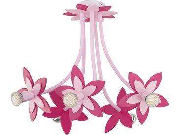 Licht-Erlebnisse Deckenspots »FLOWERS Kinderzimmerlampe Pink Holz Kunststoff Blumen Motiv Lampe«