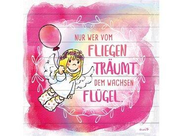 queence Holzbild »Vom Fliegen Träumen..«, Engel (1 Stück)