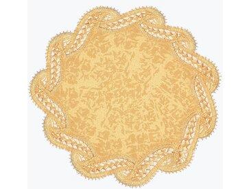 Delindo Lifestyle Platzset, »DIANA«, (2-St), Edle Macramee-Spitze, gelb, gelb