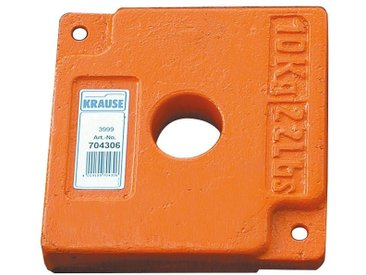 KRAUSE Ballastgewicht, 10 kg, orange, orange