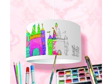 STIKKIPIX Lampenschirm »KL32«, Bastelset DIY Lampenschirm - Bemale Deinen Lampenschirm 16-teiliger Bausatz Kinderlampe selbst gestalten Bastellampe für Kinder ideal als Deckenlampe