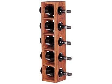 FINEBUY Weinregal »SuVa3543_1«, Massiv-Holz Flaschen-Regal Design Wandmontage für 5 Flaschen Holzregal modern mit Ablage 70 cm (FSC® Mix)