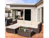 Mucola Gartenmöbelset »Polyrattan Lounge 5tlg. Gartengarnitur Sitzgruppe Gartenset Gartenmöbel Sitzgarnitur«, (5-tlg), braun, Braun