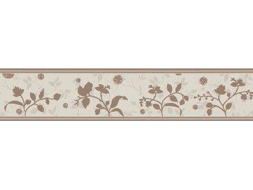 A.S. Création Bordüre »Only Borders«, aufgeschäumt, Retro, mit Blumen, floral, selbstklebend, braun, creme-braun